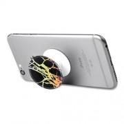 Marble Pattern Expanding Grip Holder Pop Stand Cord Winder for Smartphones - Black / Gold
