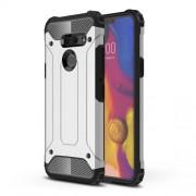 Heavy Duty Rugged Hybrid Phone Case (Plastic + TPU) for LG G8 ThinQ - Silver
