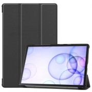 Tri-fold Stand Leather Case Smart Tablet Cover Shell for Samsung Galaxy Tab S6 T860 (Wi-Fi) / T865 (LTE) - Black