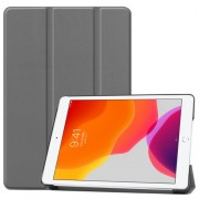 Tri-fold Stand Leather Smart Case for iPad 10.2 (2019) - Grey