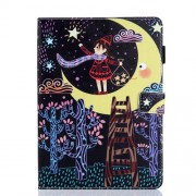 Pattern Printing PU Leather Multifunction Card Holder Tablet Stand Cover for iPad 10.2 (2019) - Catch Star Girl