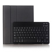 2 in 1 Bluetooth Keyboard with Stand Leather Tablet Casing for iPad 10.2 (2019) (A102B) - Black