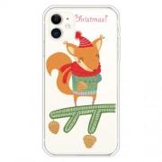 Χριστουγεννιάτικη Θήκη Σιλικόνης TPU για iPhone 11 - Χαριτωμένος Σκίουρος