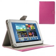 Universal Crazy Horse Leather Case w/ Stand for iPad Air / Sony Xperia Tablet Z 10-inch Tablet PC - Rose