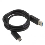 SONY Καλώδιο Δεδομένων και Φόρτισης USB 3.0 για όλα τα Smartphones με Έξοδο Type-C 1 μέτρο - Μαύρο