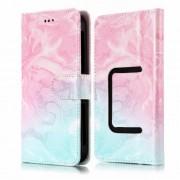 Universal Δερμάτινη Θήκη Πορτοφόλι με Βάση Στήριξης για Κινητά 5.5 ιντσών - Ροζ και Μπλε Αποχρώσεις