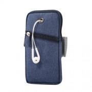 Universal Υφασμάτινη Θήκη Βραχίονα με Έξοδο για Ακουστικά, Μέγεθος 18 x 9.5cm - Μπλε