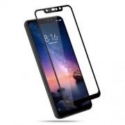 Silk Printing Tempered Glass Full Screen Protection Film for Xiaomi Redmi Note 6 Pro - Black
