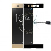 Full Size Tempered Glass Screen Film for Sony Xperia XA1 Ultra - Black