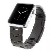 For Apple Watch Series 5 / 4 44mm / Series 3 / 2 / 1 42mm Stainless Steel Watch Strap Band Classic Buckle - Black