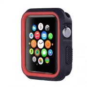 Θήκη Σιλικόνης για Apple Watch Series 3 / 2 / 1 42mm - Μαύρο / Κόκκινο