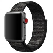 Nylon Velcro Closure Watch Band for Apple Watch Series 5 4 44mm / Series 3 2 1 42mm - Black