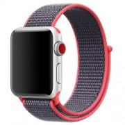 Adjustable Nylon Velcro Closure Watch Bracelet for Apple Watch Series 5 4 44mm / Series 3 2 1 42mm - Red