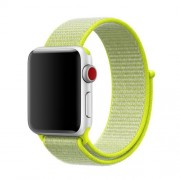 Nylon Velcro Closure Watch Strap Replacement for Apple Watch Series 5 4 44mm / Series 3 2 1 42mm - Yellow