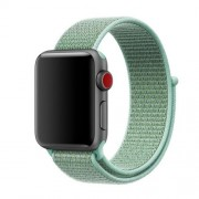 Nylon Velcro Closure Smart Watch Wristband for Apple Watch Series 5 4 44mm / Series 3 2 1 42mm - Cyan