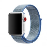 Nylon Velcro Closure Watch Band Bracelet for Apple Watch Series 5 4 44mm / Series 3 2 1 42mm - Baby Blue