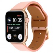Genuine Leather Watch Band Strap for Apple Watch Series 5/4/3/2/1 44mm / 42mm - Pink