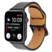 Γνήσιο Δερμάτινο Μπρασελέ για Apple Watch Series 5 / 4 / 3 / 2 / 1 44mm / 42mm - Μαύρο