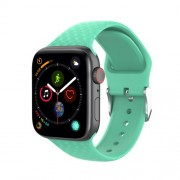 3D Diamond Texture Silicone Watch Strap for Apple Watch Series 5 4 44mm / Series 3 2 1 42mm - Green