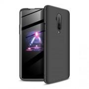 GKK 360 μοιρών Σκληρή Θήκη Ματ με Βελούδινη Υφή Πρόσοψης και Πλάτης για OnePlus 7T Pro - Μαύρο