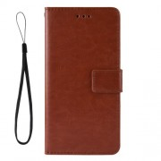Crazy Horse Wallet Leather Protective Cover with Stand for ZTE Blade V10 Vita - Brown