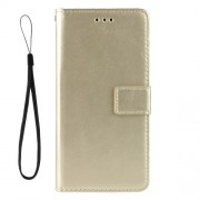 Crazy Horse Wallet Leather Protective Cover with Stand for ZTE Blade V10 Vita - Gold