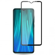 AMORUS Full Coverage Silk Printing Tempered Glass Screen Film for Xiaomi Redmi Note 8