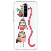 Χριστουγεννιάτικη Θήκη Σιλικόνης TPU για Xiaomi Redmi Note 8 Pro - Κουκουβάγιες και Γιρλάντα