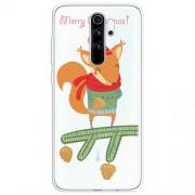 Χριστουγεννιάτικη Θήκη Σιλικόνης TPU για Xiaomi Redmi Note 8 Pro - Χαριτωμένος Σκίουρος