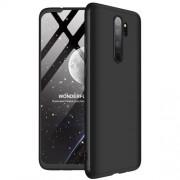 GKK 360 μοιρών Σκληρή Θήκη Ματ με Βελούδινη Υφή Πρόσοψης και Πλάτης για Xiaomi Redmi Note 8 Pro - Μαύρο