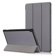 Δερμάτινη Θήκη Βιβλίο Tri-Fold με Βάση Στήριξης για Lenovo Tab M10 TB-X605F/TB-X505 - Γκρι