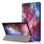 Δερμάτινη Θήκη Βιβλίο Tri-Fold με Βάση Στήριξης Huawei MediaPad T5 10 - Πολύχρωμο Νεφέλωμα