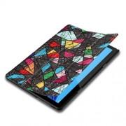Δερμάτινη Θήκη Βιβλίο Tri-Fold με Βάση Στήριξης Huawei MediaPad T5 10 - Γεωμετρικά Σχέδια