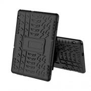 Anti-slip PC + TPU Hybrid Case with Kickstand for Huawei MediaPad T5 10 - Black
