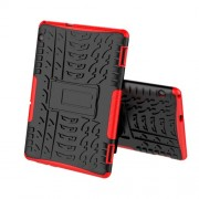 Anti-slip PC + TPU Hybrid Shell Case with Kickstand for Huawei MediaPad T5 10 - Red