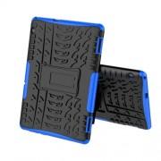 Anti-slip PC + TPU Combo Phone Case with Kickstand for Huawei MediaPad T5 10 - Blue