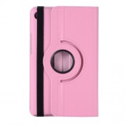 Litchi Skin Rotating Leather Stand Cover for Huawei MediaPad M5 8 - Pink