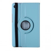 Litchi Skin PU Leather Case with Rotating Stand for Huawei MediaPad M5 8 - Baby Blue