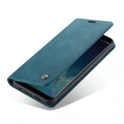 CASEME 013 Δερμάτινη Θήκη Πορτοφόλι με Βάση Στήριξης Στυλ Ρετρό για Samsung Galaxy S8 Plus G955 - Μπλε