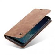 CASEME 013 Δερμάτινη Θήκη Πορτοφόλι με Βάση Στήριξης Στυλ Ρετρό για Samsung Galaxy S8 Plus G955 - Καφέ