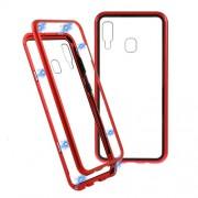 Μεταλλική Μαγνητική Θήκη 360 μοιρών (Detachable Metal Frame) για Samsung Galaxy A30 - Κόκκινο