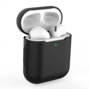 Silicone AirPods Protective Box for Apple AirPods with Charging Case (2019)/with Wireless Charging Case (2019) - Black