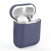 Silicone AirPods Protective Box for Apple AirPods with Charging Case (2019)/with Wireless Charging Case (2019) - Dark Blue