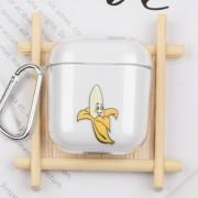 Σκληρή Διάφανη Θήκη με Γάντζο για Κρέμασμα για Apple AirPods - Μπανάνα