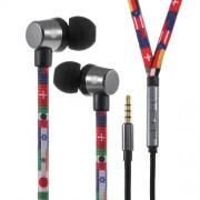 U25 Ενσύρματα Στερεοφωνικά Ακουστικά με Ενισχυμένο Καλώδιο σαν Κορδόνι Παπουτσιού για όλα τα Smartphones και Tablets - Σημαίες