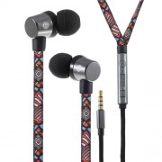 U25 Ενσύρματα Στερεοφωνικά Ακουστικά με Ενισχυμένο Καλώδιο σαν Κορδόνι Παπουτσιού για όλα τα Smartphones και Tablets - Μοτίβο Tribal