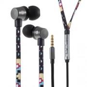 U25 Ενσύρματα Στερεοφωνικά Ακουστικά με Ενισχυμένο Καλώδιο σαν Κορδόνι Παπουτσιού για όλα τα Smartphones και Tablets - Γεωμετρικά Σχέδια