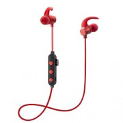 Magnetic Attraction Sports Stereo Bluetooth Earphone Sports Headset - Red