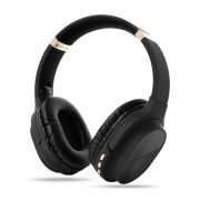 Foldable Bluetooth Earphone Wireless Headset 800mAh Large Capacity Battery Bass Sound - Black