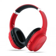 Foldable Bluetooth Earphone Wireless Headset 800mAh Large Capacity Battery Bass Sound - Red